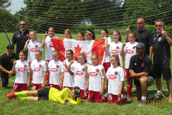 Grimsby u11 Girls - Gates Rochester NY Tournament Champions 2017