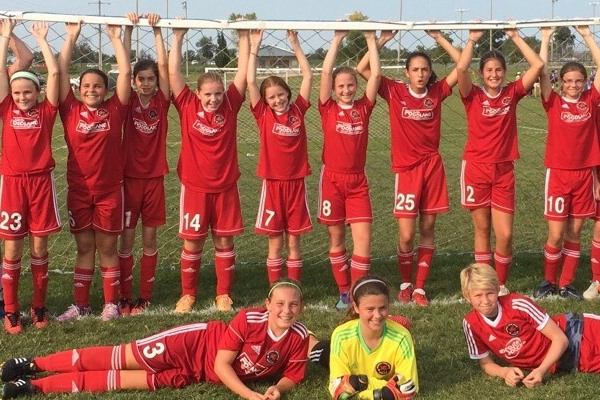 Grimsby u12 Girls - Rochester Gates Tournament Champions 2017