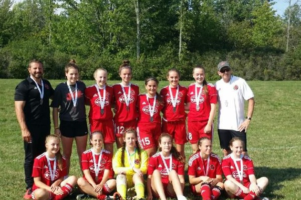 Grimsby u16 Girls - Niagara AC Douglas Tournament Finalists 2017