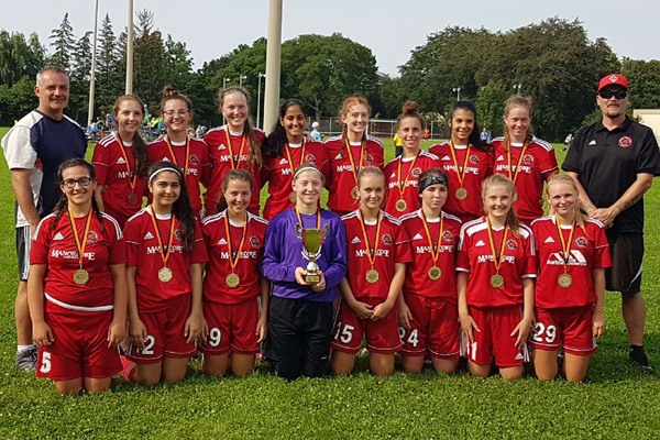 Grimsby u17 Girls - St Catharines Ti Amo u17-u18 Tournament Champions 2017